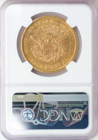 1861 $20 Liberty NGC XF40