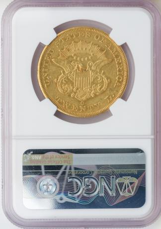 1852-O $20 Liberty NGC AU50 CAC