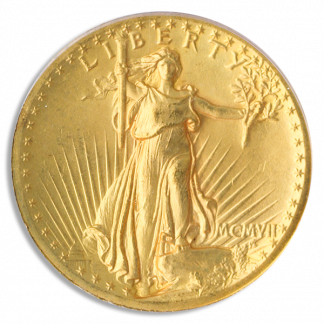 1907 $20 Saint Gaudens Wire Edge High Relief PCGS MS64 CAC