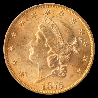 1875 $20 Liberty PCGS MS62