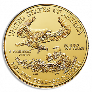 2021 1 oz American Gold Eagle Coin (BU, Type I)