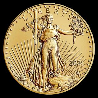 2021 1/2 oz Gold Eagle Coin (BU, Type II)