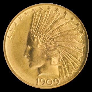 1909 $10 Indian NGC MS64