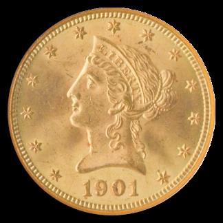 1901 $10 Liberty NGC MS65 CAC