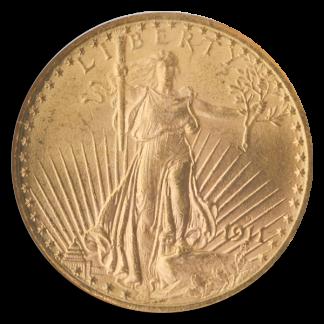 1911-D $20 Saint Gaudens NGC MS65 CAC