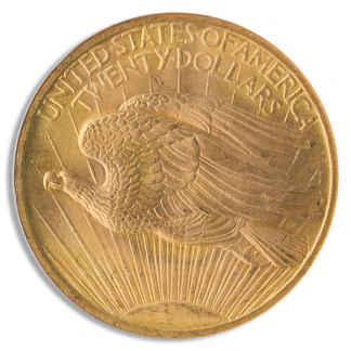 1907 $20 Saint Gaudens N/M NGC MS65
