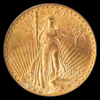 1915-S $20 Saint Gaudens Gold Coin PCGS MS65 CAC