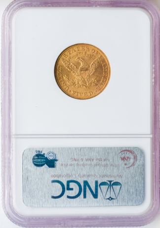 1899 $5 Liberty Gold Coin NGC Mint State 65(MS65) CAC