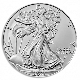 2021 1 oz American Silver Eagle Type II Coin MS 70 First Strike PCGS (Types Vary)