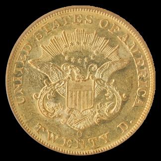 1858-O $20 Liberty PCGS AU58