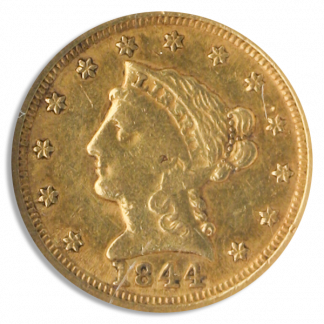 1844-D $2 1/2 Liberty NGC AU50