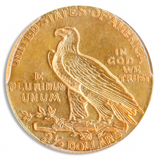 1911-D $2 1/2 Indian PCGS AU58 CAC