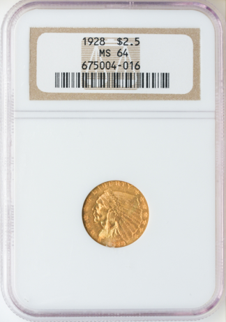 $2 1/2 Indian MS64 Certified