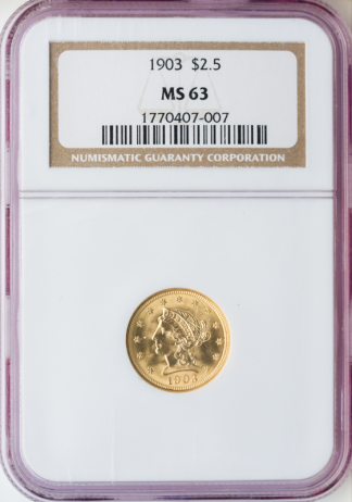 $2 1/2 Liberty Certified MS63