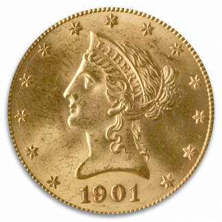 $10 Liberty Certified MS64 CAC