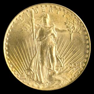 $20 Saint Gaudens MS62 Certified