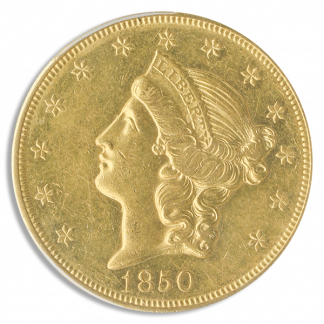 1850-O $20 Liberty PCGS AU58