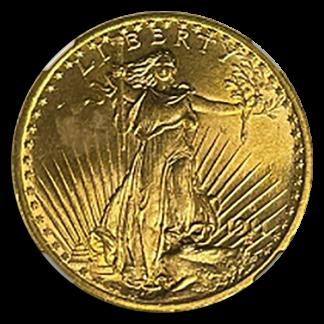 1911-S $20 Saint Gaudens NGC MS66 CAC +