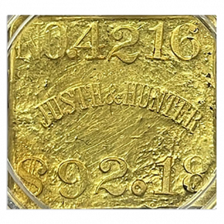 Justh  Hunter SSCA Gold Bar  4216 5.24 oz .851 Fine  $92.18