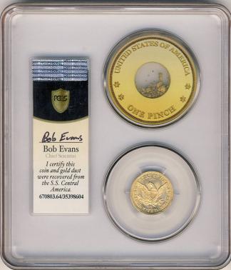 1857-S $5 Liberty SSCA POD PCGS MS64 CAC