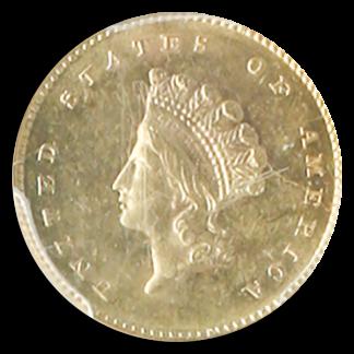 1856-S Ty 2 Gold $1 SSCA POD PCGS MS62