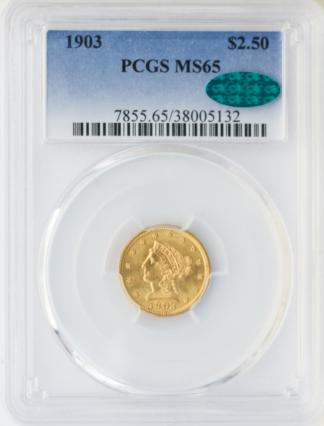 1903 $2 1/2 Liberty PCGS MS65 CAC