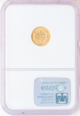 1854 Ty 2 Gold $1 NGC AU58