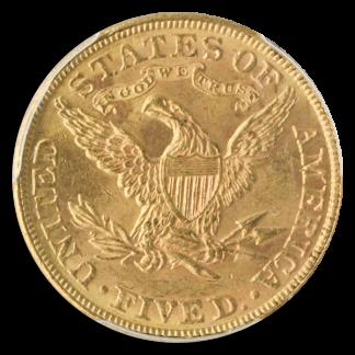 1889 $5 Liberty PCGS MS62 CAC