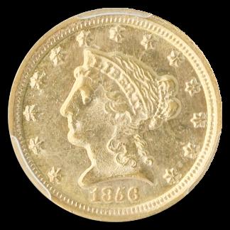 1856-D $2.50 Liberty PCGS MS62 CAC