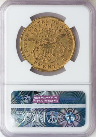 1875 $20 Liberty NGC AU55 CAC