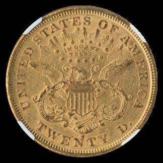 1875-S $20 Libertry NGC AU55 CAC