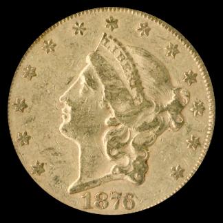 1876-S $20 Liberty Centennial NGC XF45