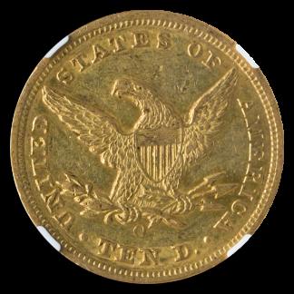 1856-O $10 Liberty NGC AU55 CAC