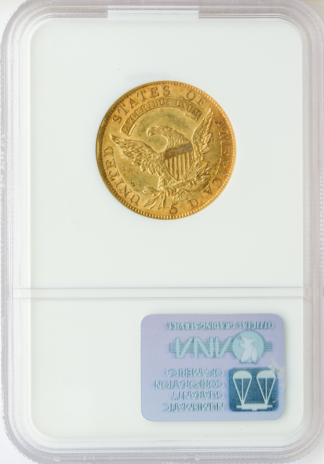 1810 $5 Capped Bust Large Date Large 5 NGC MS62 CAC