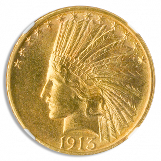1913-S $10 Indian NGC MS64 CAC +
