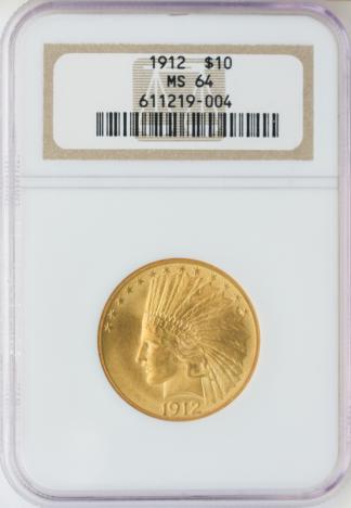 1912 $10 Indian NGC MS64