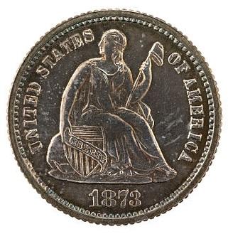 1873 Seated Liberty Half Dime Obverse