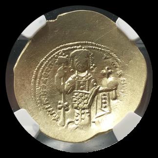 Byzantine Empire Nicephorus Christ Nomisma Cupped NGC AU
