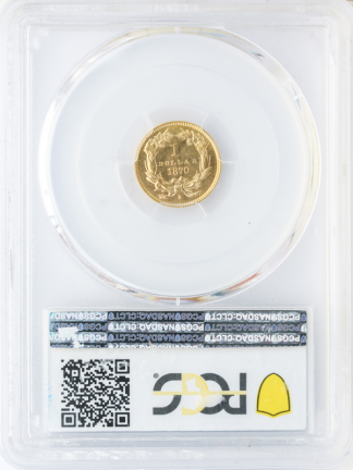 1870-S Gold $1 Type 3 PCGS MS64 CAC+