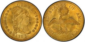 1795 $10 Draped Bust Obv and Rev