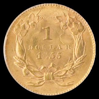 1855 $1 Indian Princess PCGS MS64