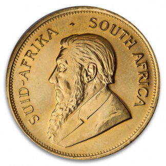 1 oz South African Gold Krugerrand Coin (Circ, Dates Vary)