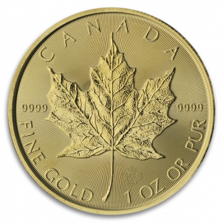 1 oz Canadian Gold Maple Leaf Coin (BU, Dates Vary)