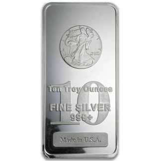 10 oz Silver Bars (Types and Conditions Vary)