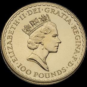 1 oz British Gold Britannia Coin (BU, Dates Vary)