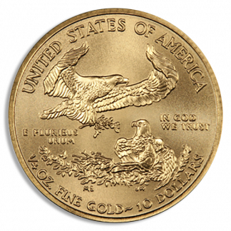 1/4 oz American Gold Eagle Coin (BU, Dates Vary)