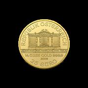 1/4 oz Austrian Gold Philharmonic Coin (BU, Dates Vary)