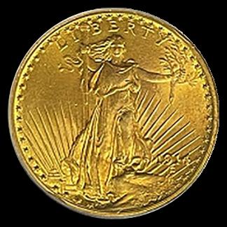 1914 $20 Saint Gaudens PCGS MS65 CAC