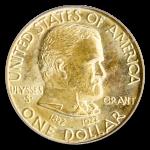 1922 Grant Gold Commemorative $1 No Star PCGS MS65 CAC