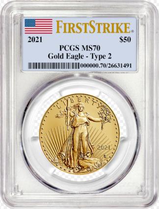 2021 1 oz American Gold Eagle PCGS First Strike Type II